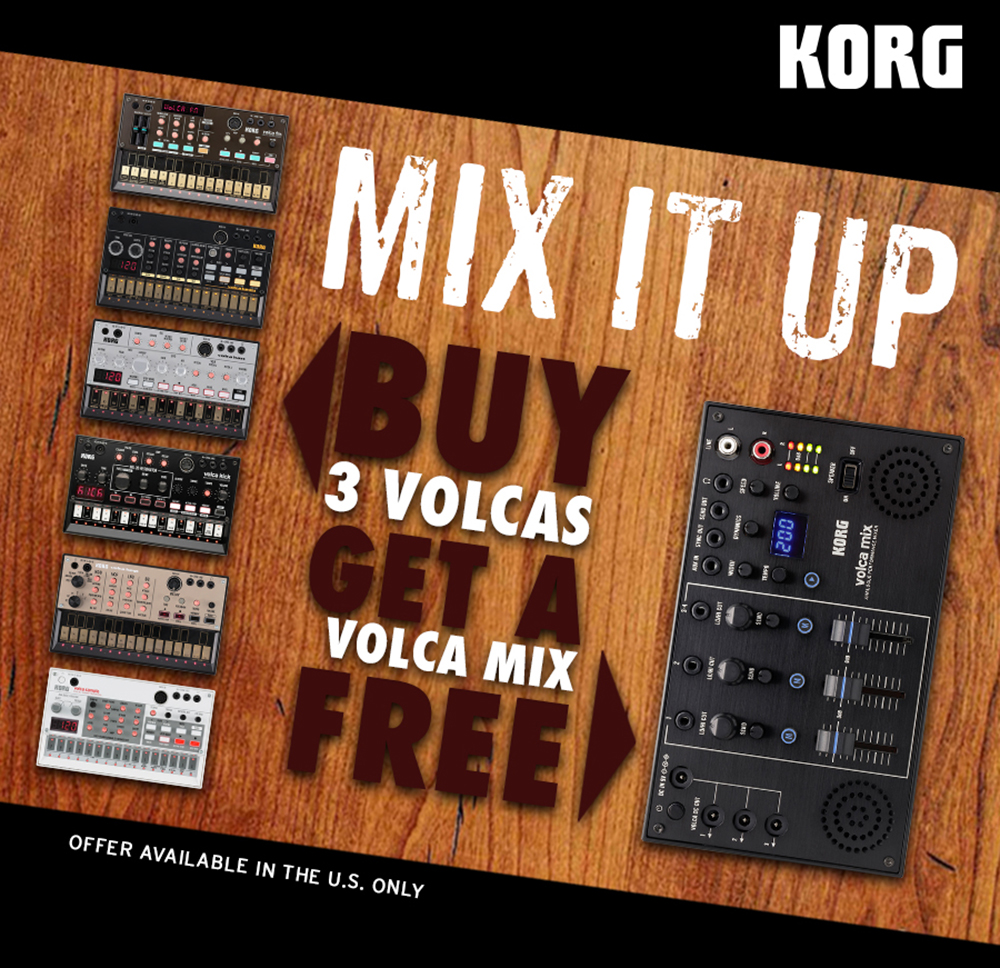 Buy 3 VOlcas Get A Volca Mix Free
